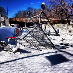 #shoppingcart casualties of #capitalism #winter #streetphotography #vagabond