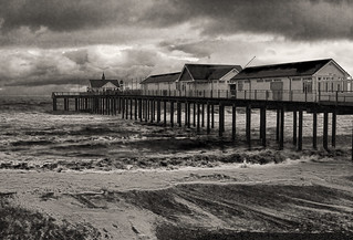 Southwold Pier 1 with lights_warm tone