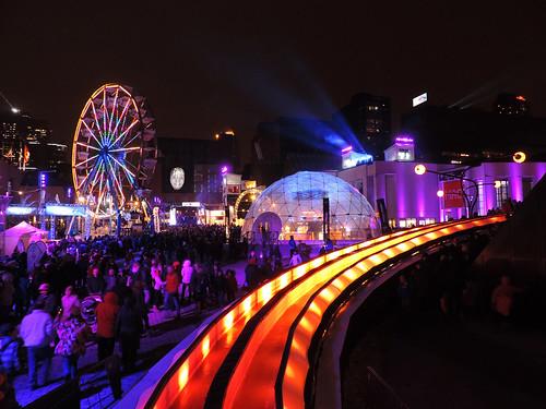 Nuit blanche, 1er mars 2014, Place des festivals, Montréal.