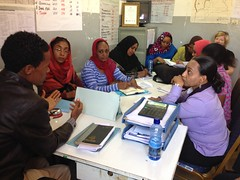 Team of visitors from Sudan getting a briefing on the Health & Nutrition programme