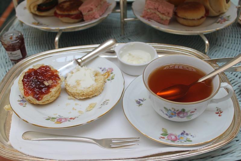 Scones and tea.