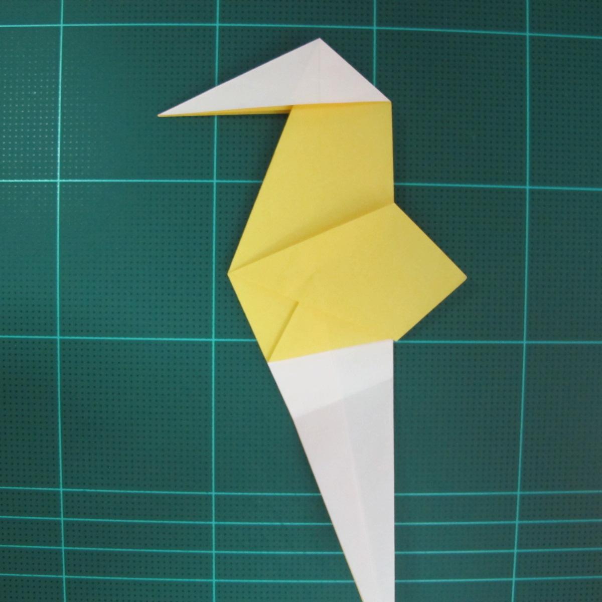 วิธีการพับกระดาษรูปม้าน้ำ (Origami Seahorse) 025
