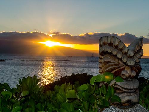 sunset sun landscape hawaii unitedstates maui lahaina