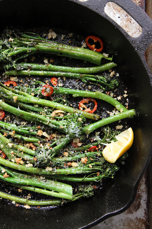 Spicy Broccoli with Toasted breadcrumbs