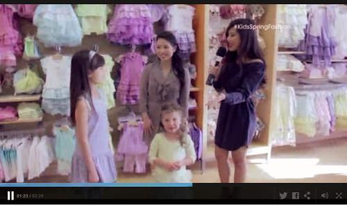 cute & little blog   kids spring fashion tv segment   floral look