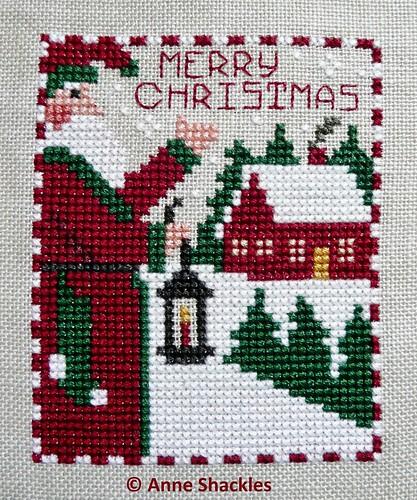 Prairie Schooler-Merry Christmas from Santas and Snowmen