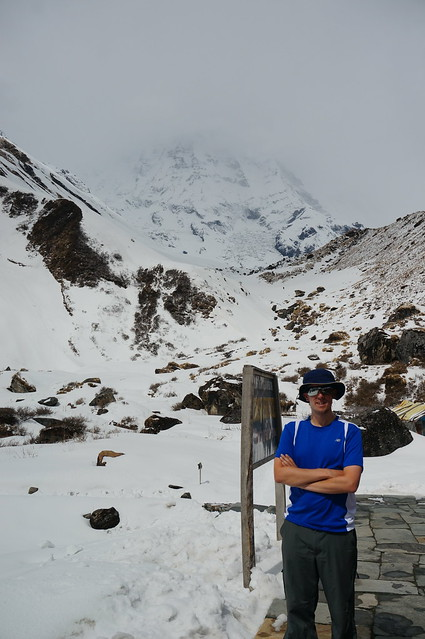 Andrew at Machhapuchchhre Base Camp