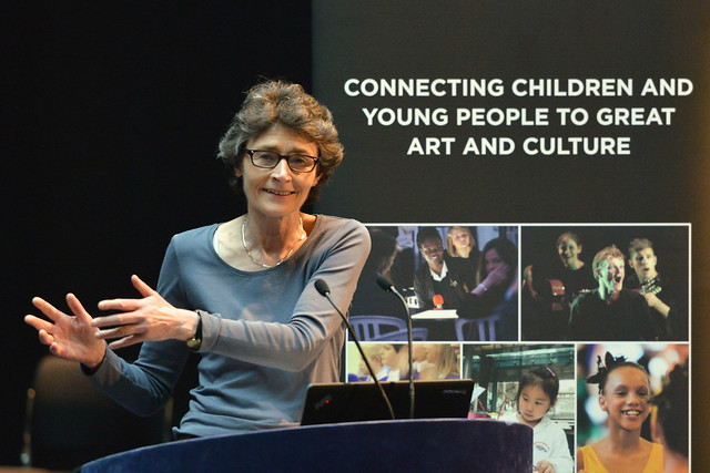 Estelle Morris speaking at the ROH Bridge Culture Counts conference © ROH / Brian Slater