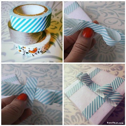 DIY Washi Tape Tailored Gift Bow Tutorial