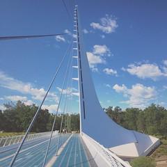 Why I Was Alive on I-5 :: #calatrava #redding #sundial #bridge #beautiful #form #engineering #sculpture #concrete #architecture #design #pedestrian #walk #bike #sacramento #river #landscape #outside #sky #clouds #cloudscape