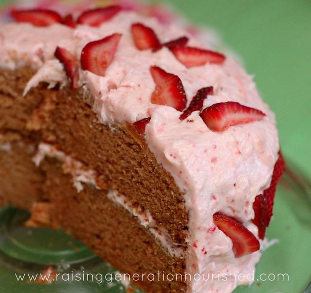 Strawberry Birthday Cake :: Gluten, Egg, Nut, & Dye Free - Raising ...