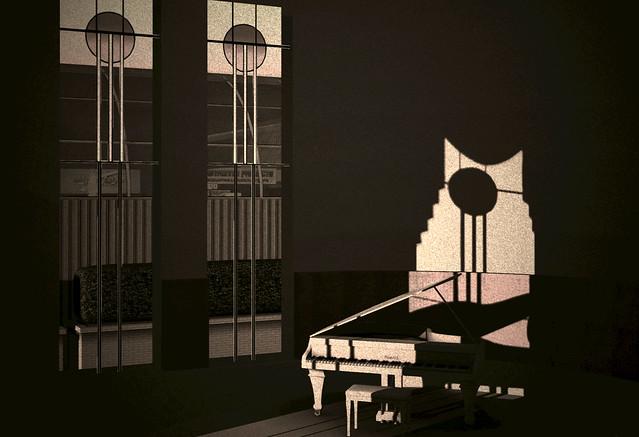 Art deco piano flickr photo sharing for Piani art deco
