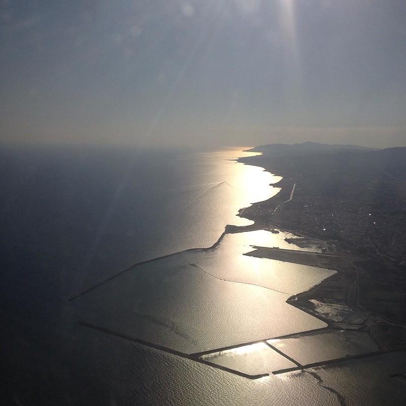 Flying over Alexandroupoli , Greece