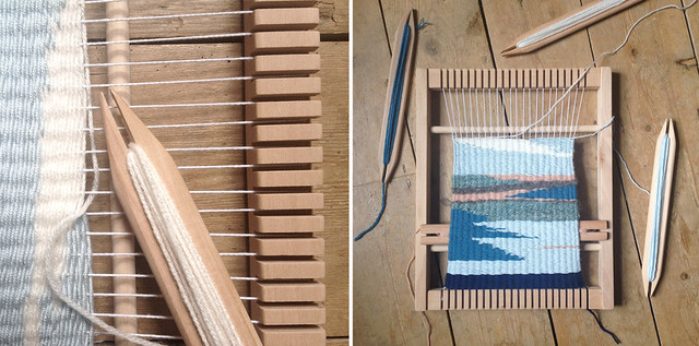 weaving progress