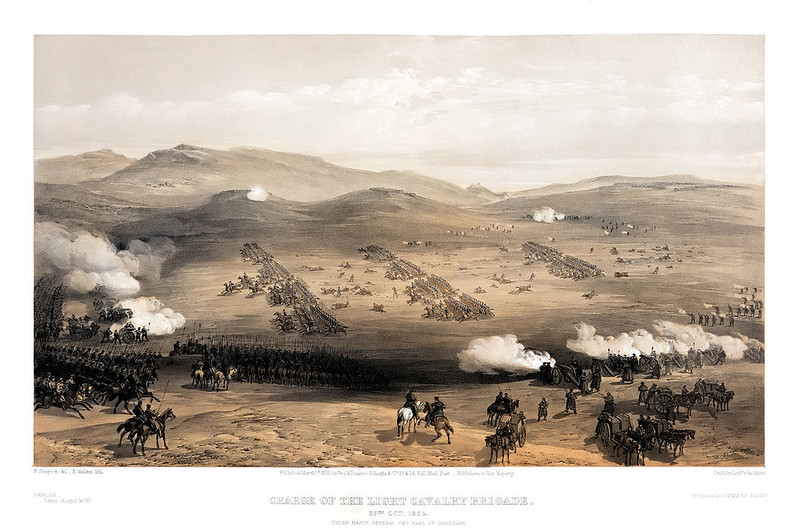 Charge of the Light Cavalry Brigade, under Major General the Earl of Cardigan, by William Simpson
