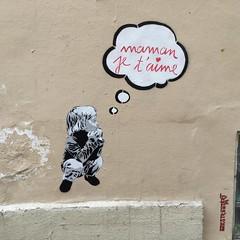 ´man j'arrive! :black_heart_suit: #mamalova # #Paris #street #art #paint #nofilter #France #gwada :palm_tree:#exXÒs #beatmaker