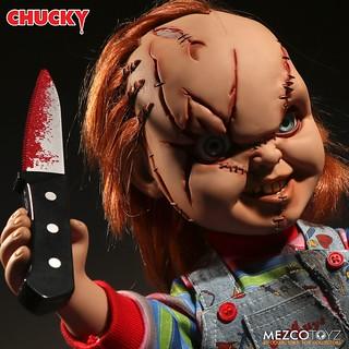 MEZCO 靈異入侵【疤面恰吉】Talking Scarred Chucky 說話玩偶作品再販登場!!