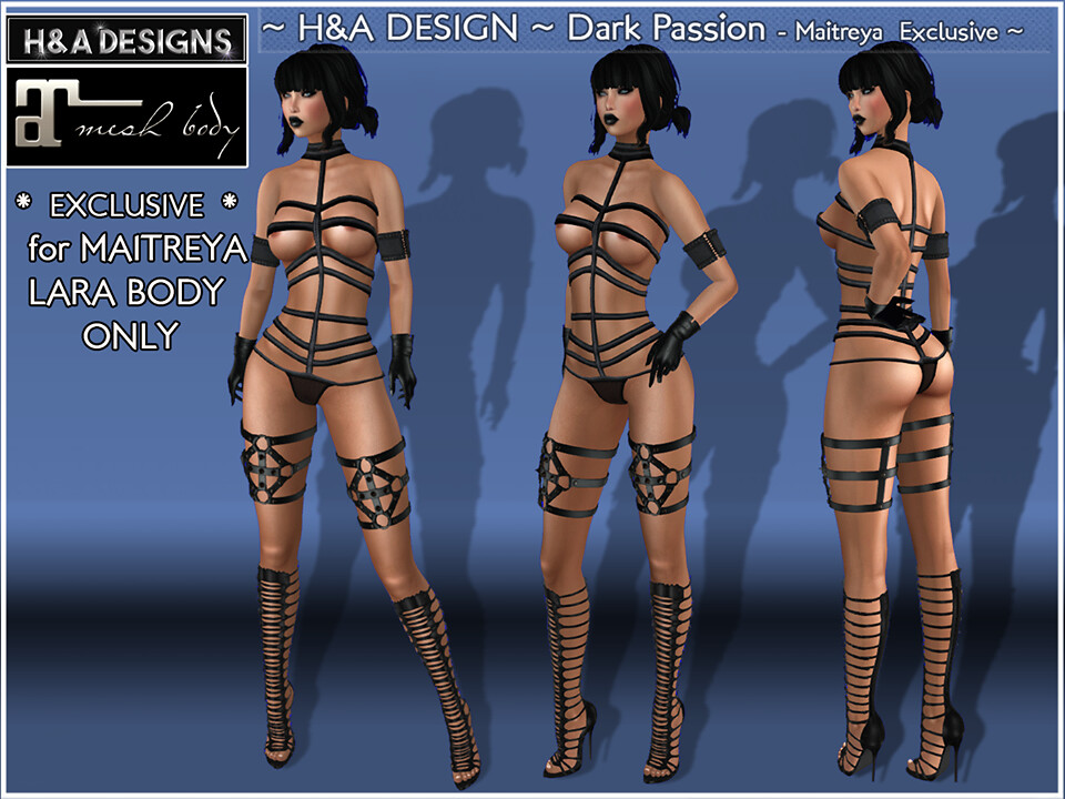 H&A Designs Dark Passion Outfit - SecondLifeHub.com