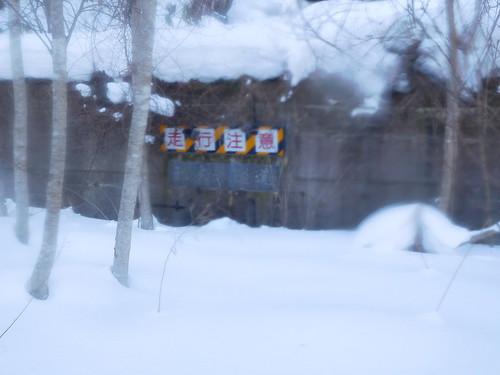 雪に埋もれた廃トンネルみっけた