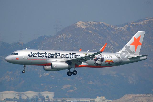 Jetstar Pacific A320 VN-A561 'Kung Fu Panda'  HKG Feb 17