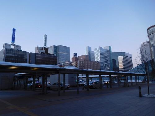 札幌駅〜 ここで合流するはずの瀬口は寝坊で来ず