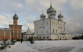 Church in winter, Novgorod, Russia