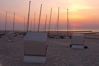 Sonnenuntergang Strand - Nordsee Wangerooge