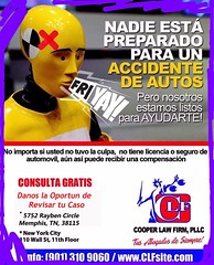 Car 🚗 💥Accident? Revisión de caso Gratis!  FREE case REVIEW! Cooper Law Firm, PLLC 24/7 (901) 310-9060 CarAccidentsLawyerCLF.com