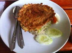 Green curry rice & omlette @ Krua & Cafe T…