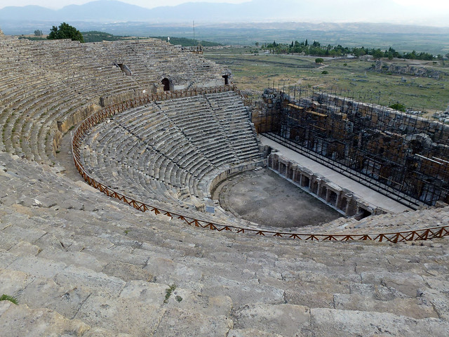Turquie - jour 12 - De Kas à Pamukkale - 196 - Hierapolis - Théâtre