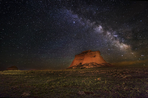 Pawnee Butte under the milky way