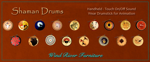 Shaman Drums - handheld with sound & animation by Teal Freenote