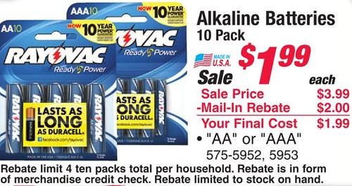 1 1 Rayovac Batteries Printable Coupon 0 10 Battery At Menards The Shopper S Apprentice