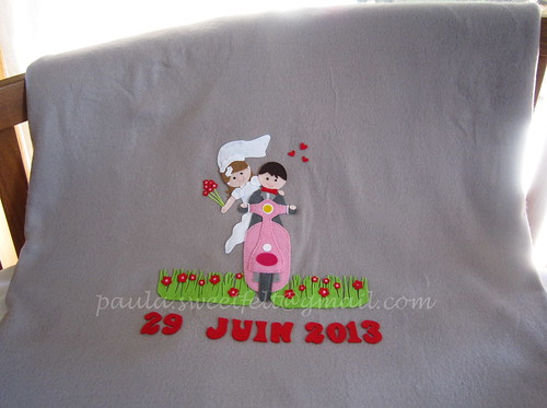 ♥♥♥ E agora que o casamento já foi, já posso mostrar a mantinha dos noivos! by sweetfelt \ ideias em feltro