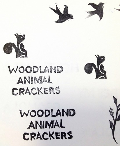 Woodland Animal Crackers Custom Stamp