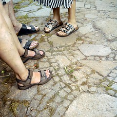 foot composition with sandals