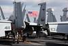 US flag flies on the USS George Washington flight deck by ABC News