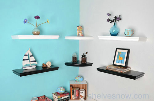 Corner Floating Shelf, White Floating Shelves, Black Floating Shelvings
