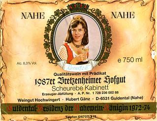 Bretzenheimer Hofgut 1987 (Nahe)