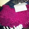 Feeling well cared for #handknit #giftfromafriend ##kidsilkhaze #ruffled #gorgeous