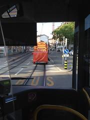Tram tracks cleaner