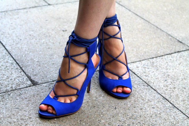 River island blue lace up heels (2)