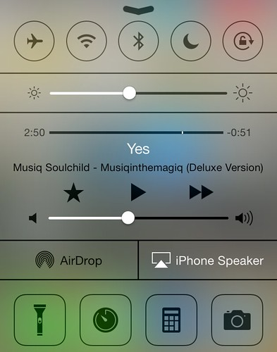 iOS7 ControlCenter