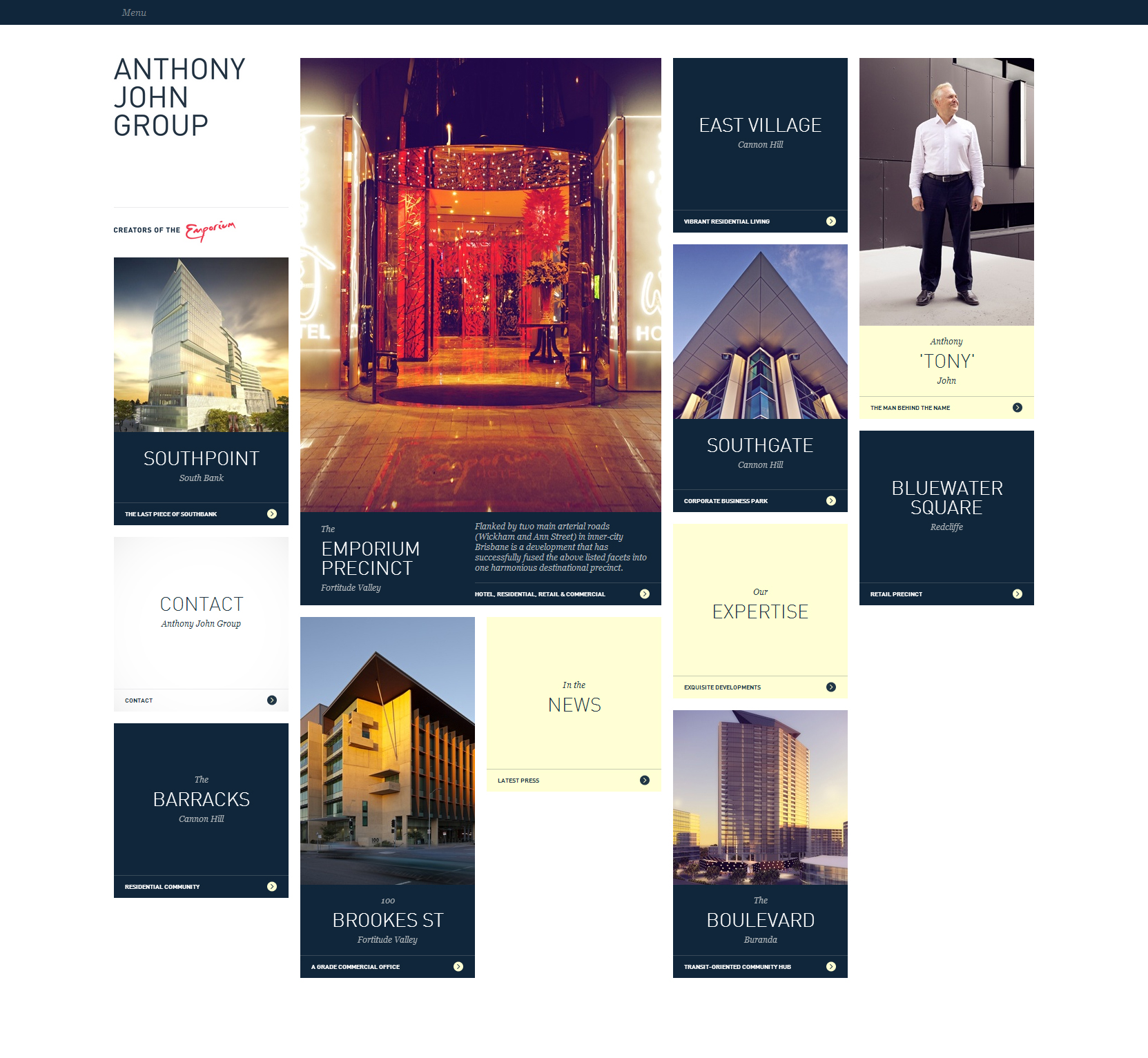 Anthony John Group - Clean Architecture Website For Your Inspiration