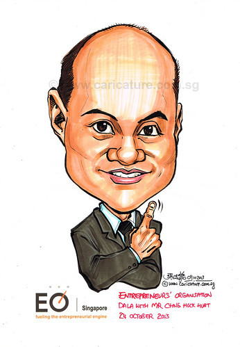 Mr Chng Hock Huat caricature for EO Singapore