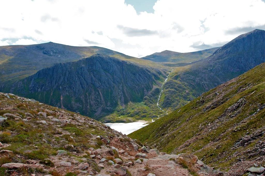 First glimpse of Loch Avon