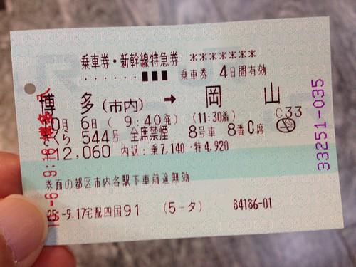 帰りの新幹線切符 by haruhiko_iyota