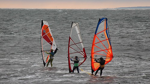 Windsurfing at Gislövshammar