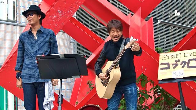 コブクロ ストリートライブ 2013年10月18日 アリスガーデン 広島市中区新天地