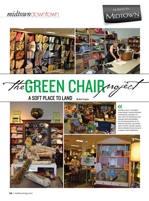 Midtown Magazine Article on The Green Chair Project